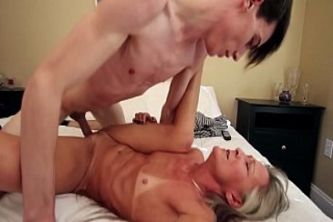 Old MILF Fucks Son Because of Blackmail from incestvideos mother son